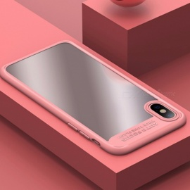 USAMS Premium Ultra Slim Thin Full-Edge TPU & Acrylic Anti-Scratch Back Cover, Protective Case Shell for IPHONE X Pink