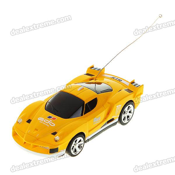 Creative Can Storage Mini Rechargeable R/C Model Racing Car - Yellow + Black (49MHz/2*AA)