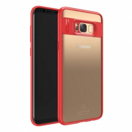 USAMS Premium Ultra Slim Thin TPU & Acrylic Full Protective Case, Back Cover Shell for Samsung Galaxy For Galaxy S8/Red