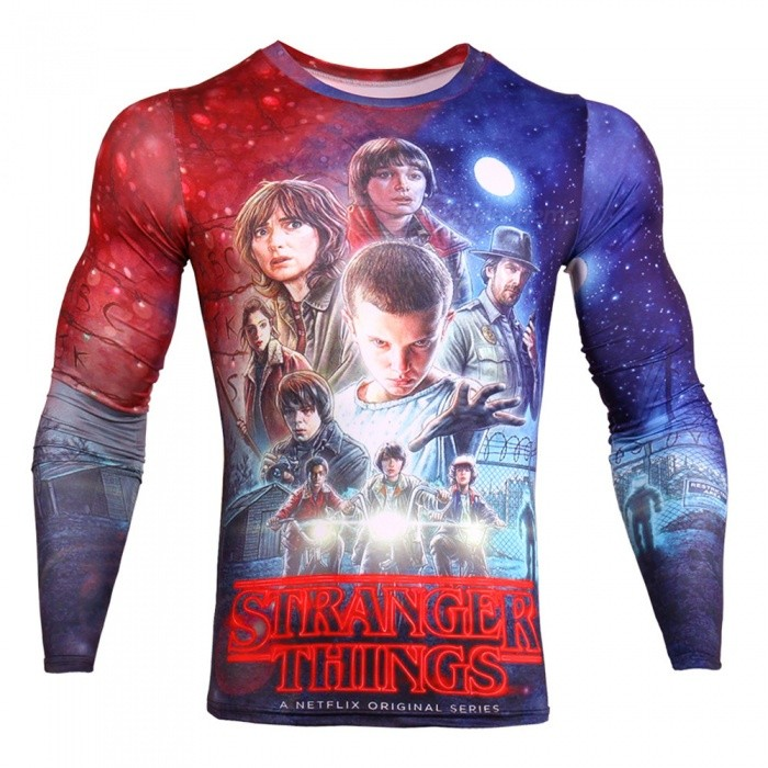 CTSmart TD136 Novelty Story Mens Fashion 3D Animation Long Sleeve Compression T-Shirt - Blue (M)Tees<br>ColorBlueSizeMModelTD136Quantity1 pieceShade Of ColorBlueMaterialMilk silkShoulder Width40 cmChest Girth96 cmSleeve Length19 cmTotal Length61 cmSuitable for Height160 cmPacking List1 x Long-sleeved compression T-shirt<br>
