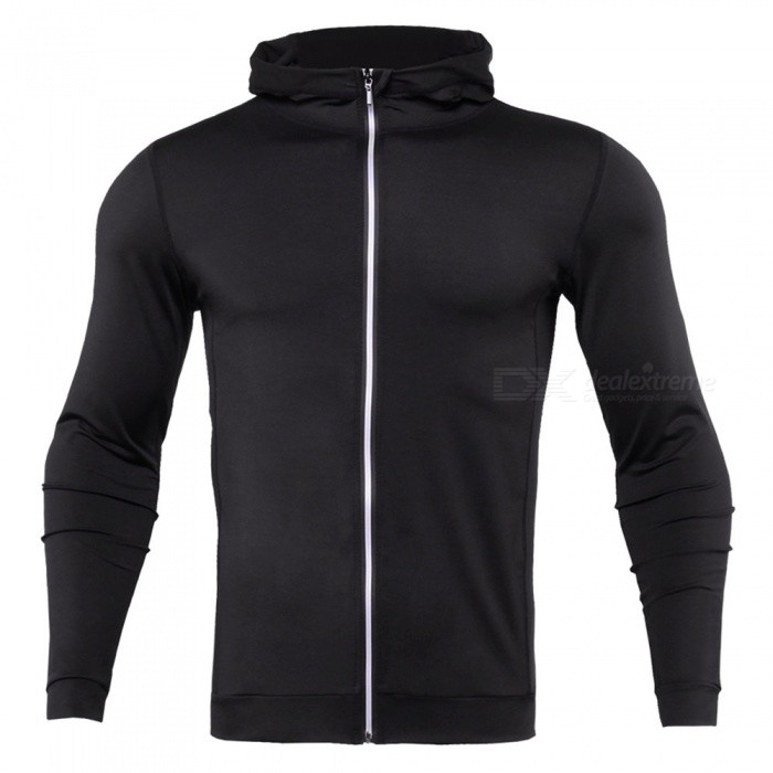 CTSmart WO4 Long-Sleeved Reflective Sweatproof Quick-Drying Thin Coat Sweater for Running Fitness - Black (3XL)Hoodies &amp; Sweatshirts<br>ColorBlackSize3XLModelWO4Quantity1 DX.PCM.Model.AttributeModel.UnitShade Of ColorBlackMaterialPolyesterStyleFashionShoulder Width46 DX.PCM.Model.AttributeModel.UnitChest Girth108 DX.PCM.Model.AttributeModel.UnitWaist Girth108 DX.PCM.Model.AttributeModel.UnitSleeve Length62 DX.PCM.Model.AttributeModel.UnitTotal Length69 DX.PCM.Model.AttributeModel.UnitSuitable for Height185 DX.PCM.Model.AttributeModel.UnitPacking List1 x Sweater coat<br>