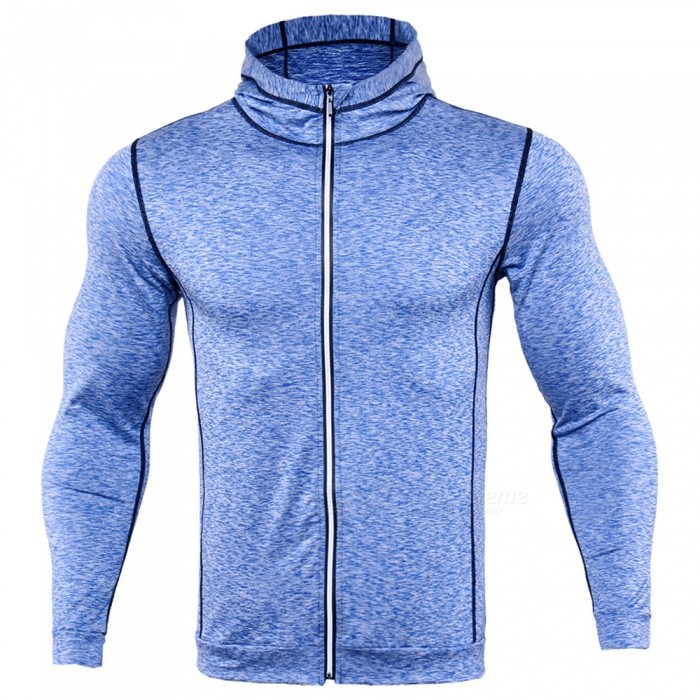 CTSmart WO4 Long-Sleeved Reflective Sweatproof Quick-Drying Thin Coat Sweater for Running Fitness - Blue (M)Hoodies &amp; Sweatshirts<br>ColorblueSizeMModelWO4Quantity1 pieceShade Of ColorBlueMaterialPolyesterStyleFashionShoulder Width42 cmChest Girth92 cmWaist Girth92 cmSleeve Length58 cmTotal Length61 cmSuitable for Height165 cmPacking List1 x Sweater coat<br>