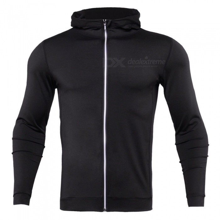 CTSmart WO4 Long-Sleeved Reflective Sweatproof Quick-Drying Thin Coat Sweater for Running Fitness - Black (L)Hoodies &amp; Sweatshirts<br>ColorblackSizeLModelWO4Quantity1 DX.PCM.Model.AttributeModel.UnitShade Of ColorBlackMaterialPolyesterStyleFashionShoulder Width43 DX.PCM.Model.AttributeModel.UnitChest Girth96 DX.PCM.Model.AttributeModel.UnitWaist Girth96 DX.PCM.Model.AttributeModel.UnitSleeve Length59 DX.PCM.Model.AttributeModel.UnitTotal Length63 DX.PCM.Model.AttributeModel.UnitSuitable for Height170 DX.PCM.Model.AttributeModel.UnitPacking List1 x Sweater coat<br>