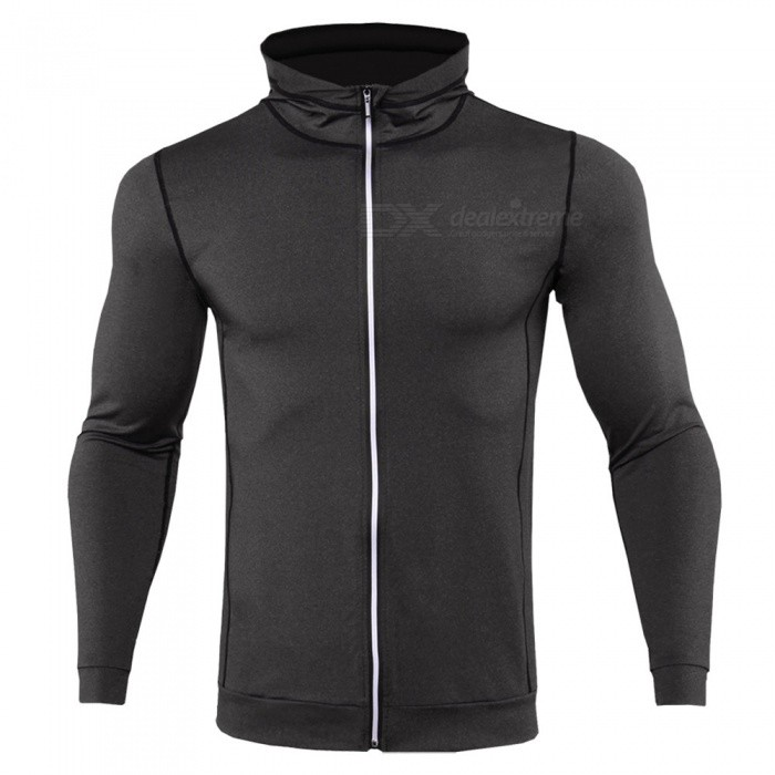 CTSmart WO4 Long-Sleeved Reflective Sweatproof Quick-Drying Thin Coat Sweater for Running Fitness - Dark Gray (XL)Hoodies &amp; Sweatshirts<br>ColorDark graySizeXLModelWO4Quantity1 DX.PCM.Model.AttributeModel.UnitShade Of ColorBlackMaterialPolyesterStyleFashionShoulder Width44 DX.PCM.Model.AttributeModel.UnitChest Girth100 DX.PCM.Model.AttributeModel.UnitWaist Girth100 DX.PCM.Model.AttributeModel.UnitSleeve Length60 DX.PCM.Model.AttributeModel.UnitTotal Length65 DX.PCM.Model.AttributeModel.UnitSuitable for Height175 DX.PCM.Model.AttributeModel.UnitPacking List1 x Sweater coat<br>