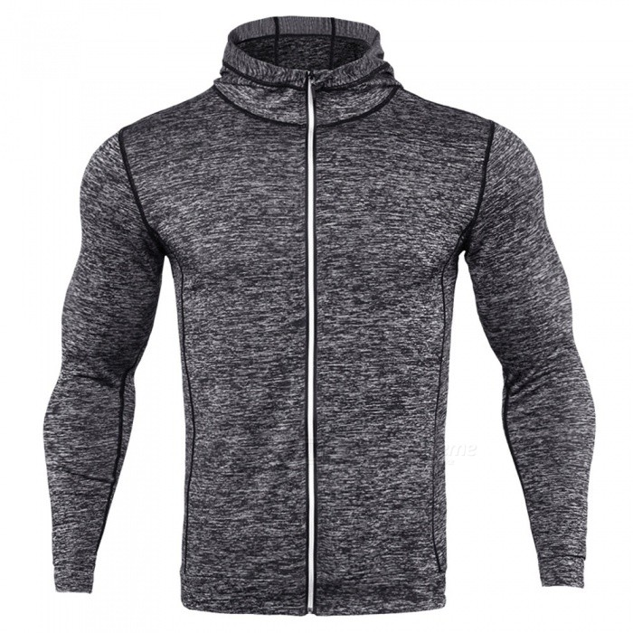 CTSmart WO4 Long-Sleeved Reflective Sweatproof Quick-Drying Thin Coat Sweater for Running Fitness - Light Gray (2XL)Hoodies &amp; Sweatshirts<br>ColorLight GraySize2XLModelWO4Quantity1 DX.PCM.Model.AttributeModel.UnitShade Of ColorGrayMaterialPolyesterStyleFashionShoulder Width45 DX.PCM.Model.AttributeModel.UnitChest Girth104 DX.PCM.Model.AttributeModel.UnitWaist Girth104 DX.PCM.Model.AttributeModel.UnitSleeve Length61 DX.PCM.Model.AttributeModel.UnitTotal Length67 DX.PCM.Model.AttributeModel.UnitSuitable for Height180 DX.PCM.Model.AttributeModel.UnitPacking List1 x Sweater coat<br>