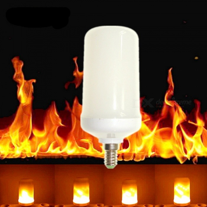 Sencart E14 LED Burning Light Flicker Flame Decorative Lamp Bulb with Fire EffectsE14<br>ColorWarm WhiteModelE14MaterialABS+PCB+LEDForm  ColorWhite + SilverQuantity1 DX.PCM.Model.AttributeModel.UnitPower5WRated VoltageAC 85-265 DX.PCM.Model.AttributeModel.UnitConnector TypeE14Chip Type2835SMDEmitter TypeOthers,2835SMDTotal Emitters96Theoretical Lumens1000 DX.PCM.Model.AttributeModel.UnitActual Lumens700 DX.PCM.Model.AttributeModel.UnitColor Temperature3000KDimmableYesBeam Angle360 DX.PCM.Model.AttributeModel.UnitPacking List1 x LED Flame light<br>