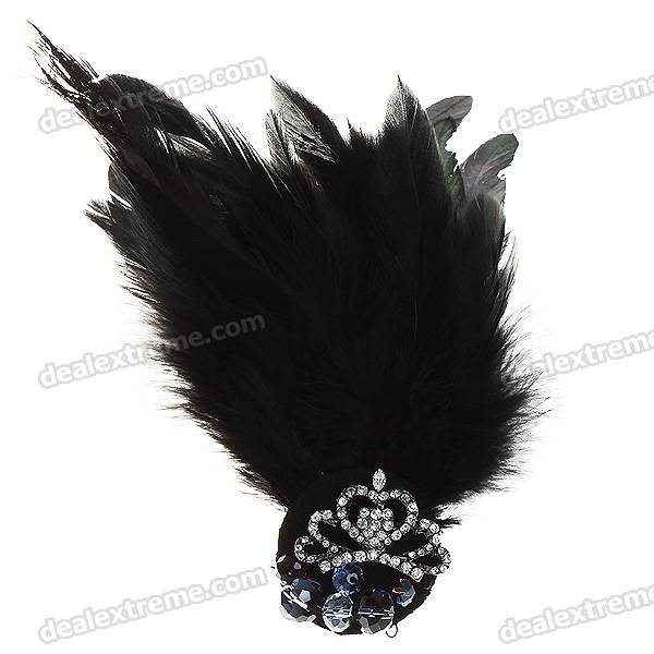 Charming Feathers + CrystalBrooch Pin Fashion Accessories