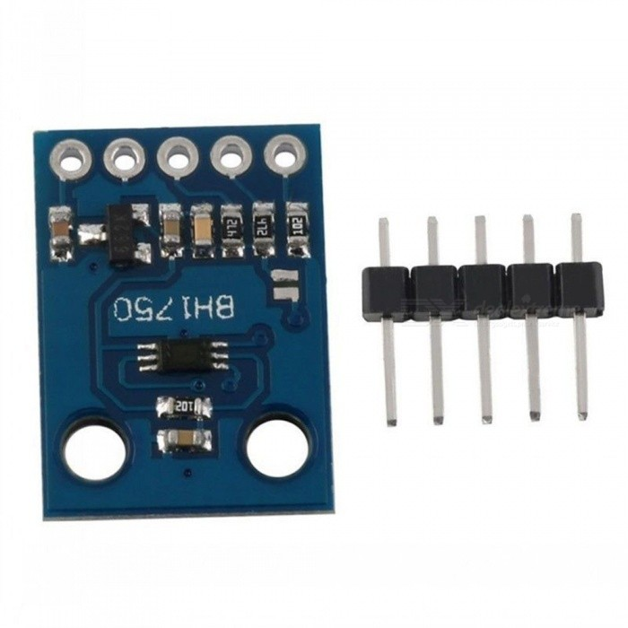 Produino BH1750FVI 3V-5V Power Digital Light intensity Sensor Module for AVR ArduinoSensors<br>Form  ColorBlueModelGY-302Quantity1 setMaterialPCBApplicationDoes not distinguish between ambient light.<br>Close to the visual sensitivity of the spectral characteristics.<br>1 lux high-precision measurement of a wide range of brightness.Working Voltage   3-5 VEnglish Manual / SpecNoDownload Link   NOPacking List1 x Module<br>