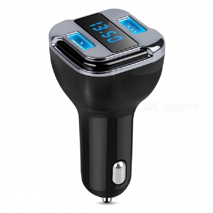 EC8 Car MP3 Player Wireless Bluetooth FM Transmitter Charger w/ Dual USBBluetooth Car Kits<br>ColorBlack + SilverModelEC8Quantity1 DX.PCM.Model.AttributeModel.UnitMaterialABS + PCFunctionOthersCompatible CellphoneOthersVoice Prompt LanguageOtherBluetooth VersionOthersTransmit DistanceN/A DX.PCM.Model.AttributeModel.UnitCharging Voltage5 DX.PCM.Model.AttributeModel.UnitInterface/PortOthersPacking List1 x FM Transmitter Kit1 x User Manual<br>