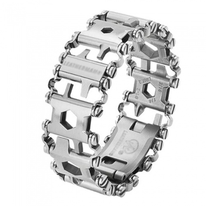 Wearable Multi-Tool Stainless Steel Wristband - SilverOther Tools<br>Form  ColorSilverQuantity1 pieceMaterialStainless steelPacking List1 x Multifunctional Bracelet<br>