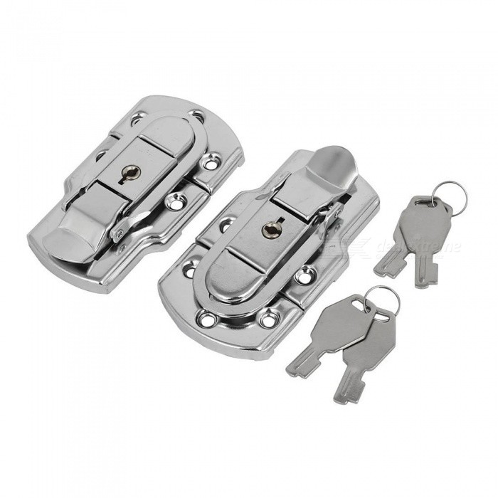 2Pcs 88mm Length Metal Toggle Latch Hasp Locks with 2Pcs Keys for Suitcase BriefcaseDIY Parts &amp; Components<br>ColorSilverQuantity2 piecesMaterialMetalEnglish Manual / SpecNoCertificationNOPacking List2 x Switch locks2 x Keys<br>