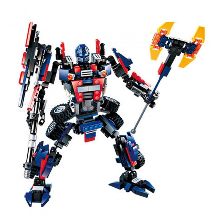 DIY ABS Plastic Transformers Optimus Prime Style Toy Building Block Educational Toy Gift for Kids ChildrenEducational Toys<br>ColorRed + blue + blackMaterialABS green materialQuantity1 DX.PCM.Model.AttributeModel.UnitSuitable Age 5-7 years,8-11 years,12-15 yearsPacking List1 x 377 pieces of building blocks1 x Manual<br>