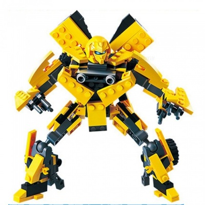DIY ABS Plastic Transformers Bumblebee Style Toy Building Block Educational Toy Gift for Kids Children