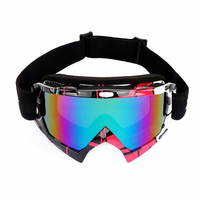 WOLFBIKE Winter Windproof Ski Glasses Goggles, UV 400 Protection Anti-fog Snow Glasses for Men - RedGoggles<br>ColorRedSizeFree SizeModelBYJ-017Quantity1 pieceGenderUnisexSuitable forAdultsLens ColorAs the picturesLens MaterialPCFrame ColorRedFrame MaterialTPUFrame Height10 cmOverall Width of Frame18 cmBridge Width5.5 cmBest UseOthers,Skiing /motorcyclesPacking List1 x Skiing glasses<br>