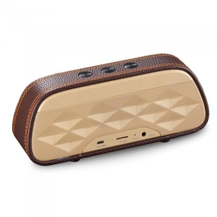 Fashion HIFI Outdoor Portable 3D Stereo Music Surround Wireless Bluetooth Speaker Sound System for Phone / PC - BrownBluetooth Speakers<br>ColorBrownModelS606MaterialPC+ABSQuantity1 DX.PCM.Model.AttributeModel.UnitShade Of ColorBrownBluetooth HandsfreeYesBluetooth VersionBluetooth V3.0Operating Range10Total Power6 DX.PCM.Model.AttributeModel.UnitChannels2.0Interface3.5mm,USB 2.0,AuxMicrophoneYesFrequency Response40Hz-20KHzApplicable ProductsPS3,IPHONE 5,IPHONE 4,IPHONE 4S,IPHONE 3G,IPHONE 3GS,IPAD,Universal,Cellphone,GPS,MP3,PDA,MP4,Tablet PC,IPHONE 5S,IPHONE 5CRadio TunerNoBuilt-in Battery Capacity 1200 DX.PCM.Model.AttributeModel.UnitBattery Type18650Talk Time3 DX.PCM.Model.AttributeModel.UnitStandby Time80 DX.PCM.Model.AttributeModel.UnitMusic Play Time6 DX.PCM.Model.AttributeModel.UnitPower AdapterUSBPower Supply5V 1APacking List1 x Bluetooth speaker1 x Charging cable 1 x Audio cable1 x Manual<br>
