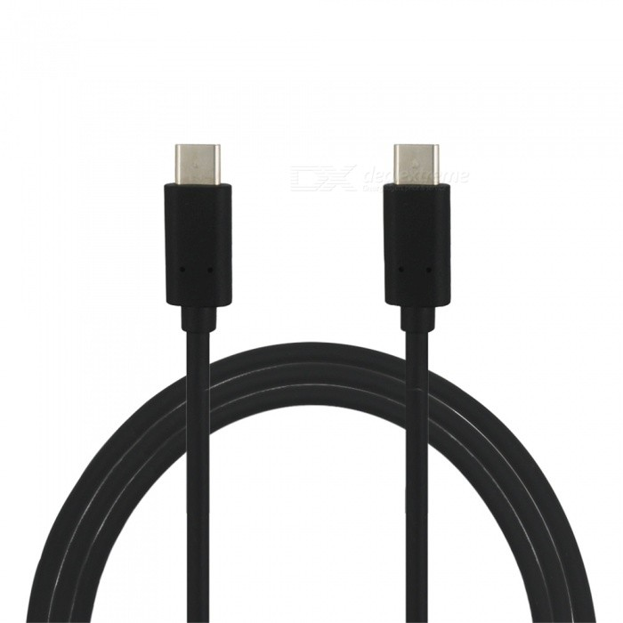 Mini Smile Quick Charge USB 3.1 Type-C Male to Male PD Data / Charging Cable - Black