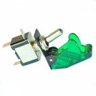 YENISEI DC 12V 20A Green LED SPST ON/OFF Racing Car Toggle Switch - 2PCS