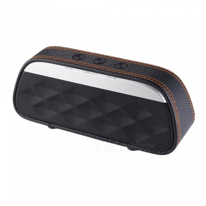 Fashion HIFI Outdoor Portable 3D Stereo Music Surround Wireless Bluetooth Speaker Sound System for Phone / PC - BlackBluetooth Speakers<br>ColorBlackModelS606MaterialPC + ABSQuantity1 pieceShade Of ColorBlackBluetooth HandsfreeYesBluetooth VersionBluetooth V3.0Operating Range10Total Power6 WChannels2.0Interface3.5mm,USB 2.0,AuxMicrophoneYesFrequency Response40Hz-20KHzApplicable ProductsPS3,IPHONE 5,IPHONE 4,IPHONE 4S,IPHONE 3G,IPHONE 3GS,IPAD,Universal,Cellphone,GPS,MP3,PDA,MP4,Tablet PC,IPHONE 5S,IPHONE 5CRadio TunerNoBuilt-in Battery Capacity 1200 mAhBattery Type18650Talk Time3 hoursStandby Time80 hoursMusic Play Time6 hoursPower AdapterUSBPower Supply5V 1APacking List1 x Bluetooth speaker1 x Charging cable 1 x Audio cable1 x Manual<br>