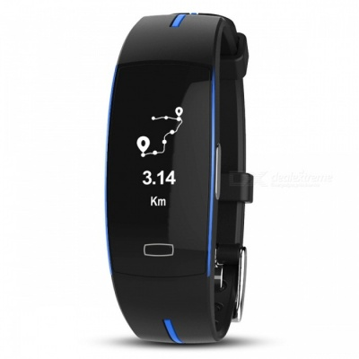 P-TOP P3 Sport Smart Bracelet Band w/ ECG Monitor, Blood Pressure, Real-time Heart Rate Monitior for IOS Android - Blue