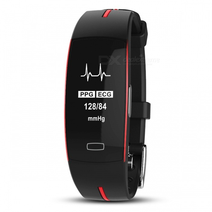 P-TOP P3 Sport Smart Bracelet Band w/ ECG Monitor, Blood Pressure, Real-time Heart Rate Monitior for IOS Android - RedColorRedQuantity1 DX.PCM.Model.AttributeModel.UnitShade Of ColorRedCasing MaterialPC+ABSWristband MaterialFashionSuitable forAdultsGenderUnisexStyleWrist WatchDisplayAnalog + DigitalMovementOthers,-Display Format24 hour time formatWater ResistantOthers,IP68Dial Diameter4 DX.PCM.Model.AttributeModel.UnitDial Thickness0.3 DX.PCM.Model.AttributeModel.UnitWristband Length26 DX.PCM.Model.AttributeModel.UnitBattery-Packing List1 x Smart Bracelet<br>