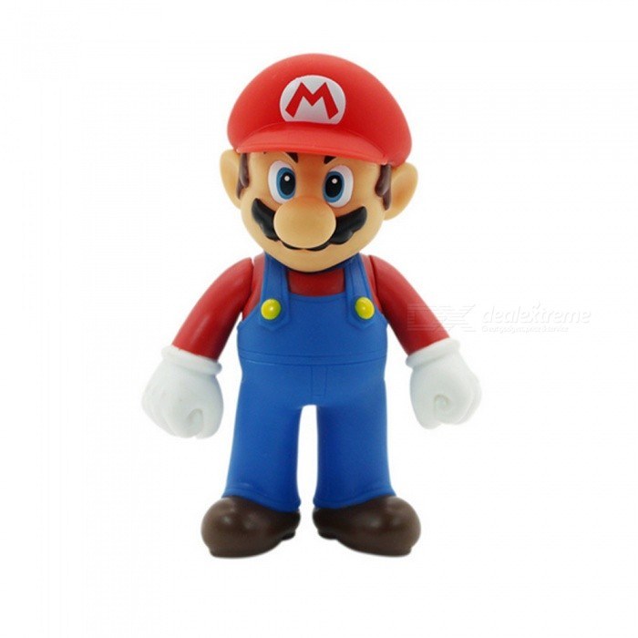HONEST Super Mario Brother PVC Action Figure Collectible Model Toy 11-12cm - RedAnime or Movie Figures<br>ColorRed (Mario)ModelN/AMaterialPVCQuantity1 DX.PCM.Model.AttributeModel.UnitPacking List1 x PVC Model Toy<br>