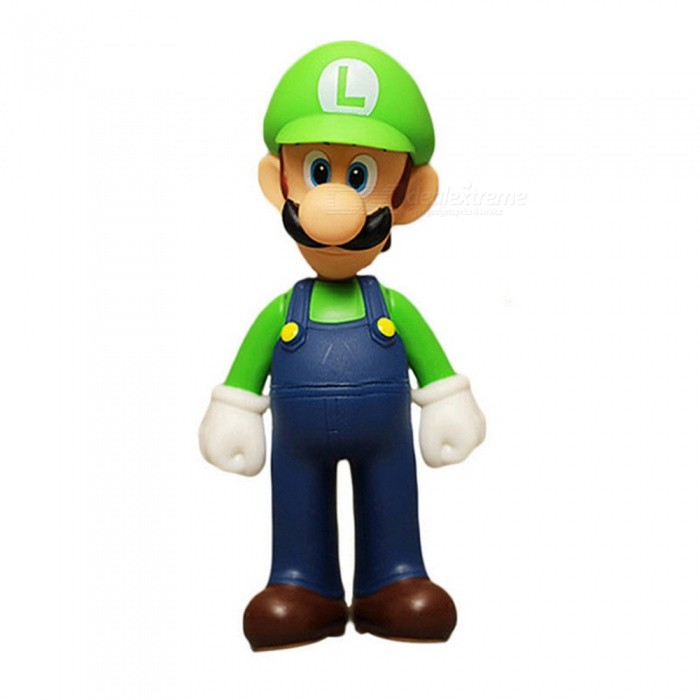 Super Mario Bros Luigi PVC Action Figure Collectible Model Toy 11-12cm - Green