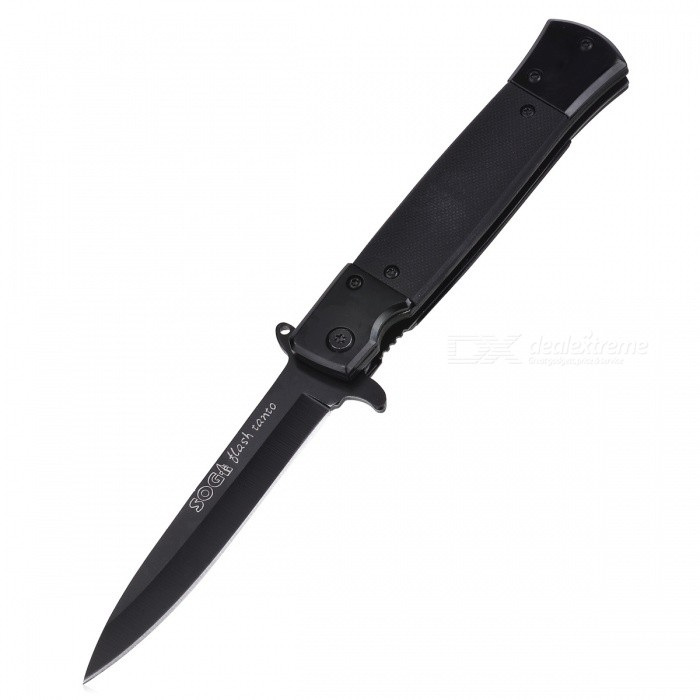 CTSmart Latest Camping Outdoor Survival Folding Knife with Clip - BlackKnives<br>ColorBlackModelCT-5MaterialStainless steelQuantity1 DX.PCM.Model.AttributeModel.UnitShade Of ColorBlackOther FeaturesMaterial: 3Cr13, handle material: steel + G10, surface: sand lightPacking List1 x Knife<br>