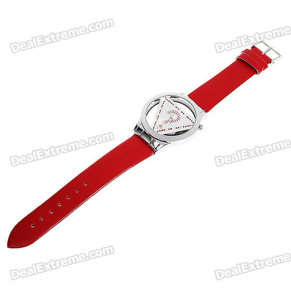 Stylish Quartz Wrist Watch with Crystal - Red (1*377)