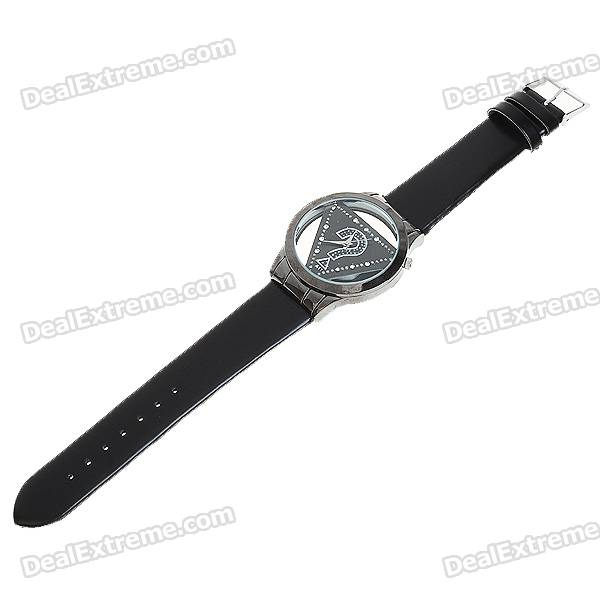 Stylish Wrist Watch with Crystal - Black (1*377)