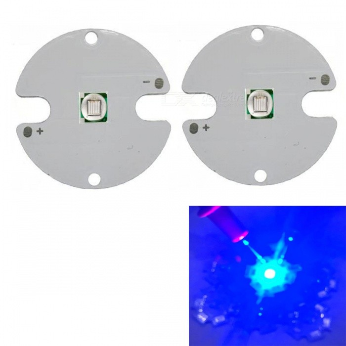 JRLED Super Bright 32mm PCB 10W Blue Light 5050 SMD LED Bead, DC3-3.5V (2 PCS)Leds<br>Emitting ColorBlueSize32mmModelJR-5050-10WMaterialAluminium alloy+LEDQuantity2 DX.PCM.Model.AttributeModel.UnitPower10 DX.PCM.Model.AttributeModel.UnitRate VoltageDC3-3.5VWorking Current0-2500 DX.PCM.Model.AttributeModel.UnitDimmableYesEmitter Type5050 SMD LEDTotal Emitters1Beam Angle120 DX.PCM.Model.AttributeModel.UnitColor Temperature12000K,Others,N/ATheoretical Lumens400 DX.PCM.Model.AttributeModel.UnitActual Lumens300 DX.PCM.Model.AttributeModel.UnitWavelengthN/AConnector TypeOthers,Solder jointCertificationCE ROHSOther FeaturesThis product adopts Taiwan large single crystal chip, packaged into 5050 types of beads, beads size and XML size.Packing List2 x 10W LED Beads<br>