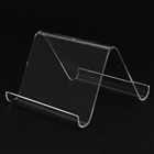 Plastic Crystal Holder for Cell Phone/Iphone/Ipad/PDR/MP3/MP4 - Transparent