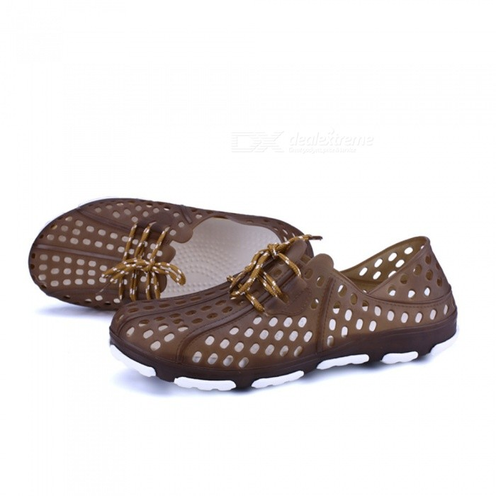 L802 Mens Summer Non-Slip Breathable Hollow Out Beach Sandal Shoes - Brown (Size 45)Shoes<br>ColorBrownSize45ModelL802Quantity1 setShade Of ColorBrownMaterialEVAStyleCasualFoot Length275 cmFoot Girth10-15 cmHeel Height1 cmPacking List1 x Shoes<br>