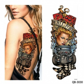 New Unique Nun Girl Pray Design Full Flower Arm Body Art Beckham Big Large Fake Temporary Tattoo Sticker QB 3030