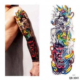 New Unique Nun Girl Pray Design Full Flower Arm Body Art Beckham Big Large Fake Temporary Tattoo Sticker QB 3041