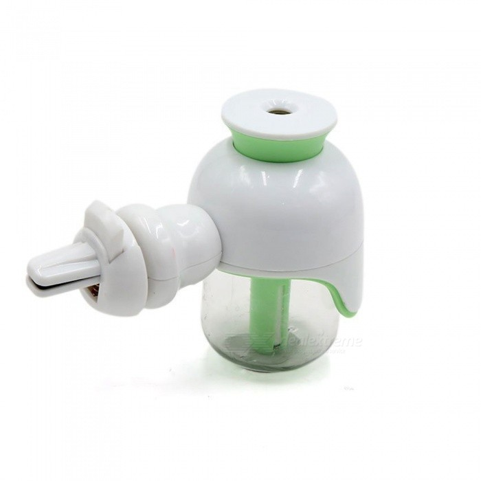 360 Degree Adjustable Car Air Vent Aroma Essential Oil Diffuser Humidifier Purifier 50ML - GreenAir Fresheners and Purifiers<br>ColorGreenModel1602Quantity1 DX.PCM.Model.AttributeModel.UnitMaterialPlasticShade Of ColorGreenTypeLiquidPowered ByCar ChargerCapacity50MLOzone Concentration3500 DX.PCM.Model.AttributeModel.UnitAnion Concentration200~600Power1.5W-2W DX.PCM.Model.AttributeModel.UnitPower SupplyOthers,5 DX.PCM.Model.AttributeModel.UnitCurrent120~300 DX.PCM.Model.AttributeModel.UnitPacking List1 x Car Humidifier1 x Sponge(Spare Part)1 x USB charger 1 x User Manual<br>