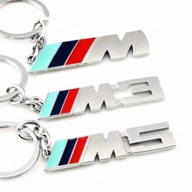 Moda exclusivo de metal decorativo logotipo do carro chaveiro chaveiro chaveiro chaveiro car styling ferramenta para BMW auto para bmw M