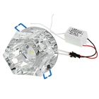 3W 160-Lumen Crystal LED Ceiling Lamp/Down Light - Yellow Light (95-265V)