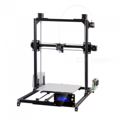 Flsun i3 DIY 3D Printer Kit w/ Large Printing Area 300*300*420mm - Black (EU Plug)
