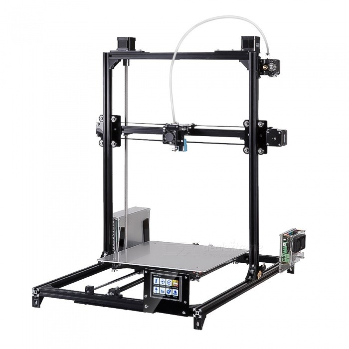 Flsun i3 DIY 3D Printer Kit w/ Large Printing Area 300*300*420mm, Autolevel, Touch Screen, Dual Nozzle - Black (US Plug)3D Printers, 3D Printer Kits<br>ColorBlackPower AdapterUS PlugModeli3 plus touch doulQuantity1 DX.PCM.Model.AttributeModel.UnitMaterialMetalPacking List1 x 3D printer kit<br>