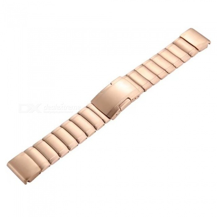 Stainless Steel Watch Band for Garmin Fenix 5S - Rose GoldWearable Device Accessories<br>ColorRose GoldQuantity1 DX.PCM.Model.AttributeModel.UnitMaterialStainless steelPacking List1 x Watch Band<br>