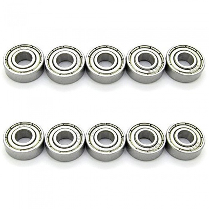 696Z 15mm x 6mm x 5mm Miniature Magnetic Radial Ball Bearing (10 PCS)DIY Parts &amp; Components<br>ColorSilverModel696zQuantity10 DX.PCM.Model.AttributeModel.UnitMaterialMetalEnglish Manual / SpecNoCertificationNOPacking List10 x Deep Groove Ball Bearings<br>