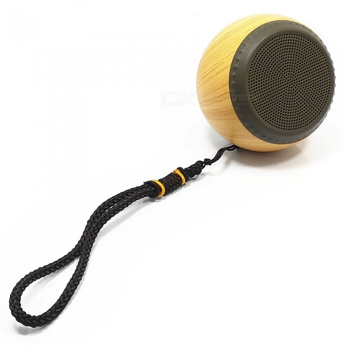 Mini Outdoor Wooden Bluetooth V4.0 Speaker with String for IPHONE / Samsung / XiaoMi - YellowBluetooth Speakers<br>ColorYellowMaterialWoodenQuantity1 pieceShade Of ColorYellowBluetooth HandsfreeNoBluetooth Chip4.0Bluetooth VersionBluetooth V4.0Operating Range8MTotal Power3 WChannels1.0MicrophoneNoSNR70dbFrequency Response40Hz-20KHzImpedance3 ohmRadio TunerNoBuilt-in Battery Capacity 650 mAhBattery TypeLi-ion batteryMusic Play Time3 hoursPower AdapterUSBPower Supply5V 1APacking List1 x Speaker (String 14cm)1 x Charging Cable (50cm)<br>