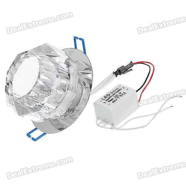 3W Green LED Crystal Ceiling Lamp/Down Light with LED Driver (160Lm/95~265V)