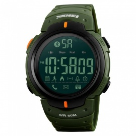 SKMEI 1301 Men's Bluetooth Digital Wristwatch Sport Smartwatch w/ Pedometer for IPHONE Android - Army Green