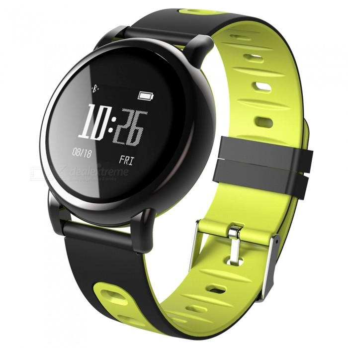 B8 Fitness IP67 Smart Bracelet Watch with Blood Pressure Heart Rate Monitoring for IOS Android Phone - Light GreenSmart Bracelets<br>ColorLight greenModelB8Quantity1 DX.PCM.Model.AttributeModel.UnitMaterialTPUShade Of ColorBlackWater-proofYesBluetooth VersionBluetooth V4.0Touch Screen TypeYesOperating SystemNoCompatible OSAndroid system 4.4 &amp; iOS system 8.0 or aboveBattery Capacity80 DX.PCM.Model.AttributeModel.UnitBattery TypeLi-polymer batteryStandby Time4-7 DX.PCM.Model.AttributeModel.UnitPacking List1 x B8 Smart Band1 x Charging Cable<br>
