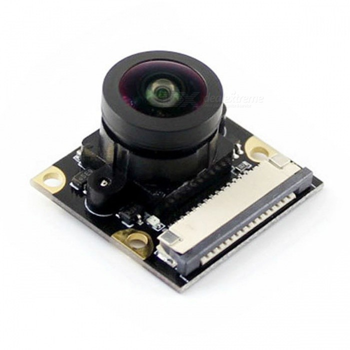 Waveshare Raspberry Pi Camera Module, Fisheye Lens, Wider Field of View (No PI)Raspberry Pi<br>ModelRPi Camera (K)ModelRPi Camera (K)Quantity1 pieceMaterialRF4English Manual / SpecNoDownload Link   www.waveshare.com/wiki/RPi_Camera_(K)Packing List1 x RPi Camera (K) 1 x 15-pin FFC (opposite sides contact)<br>