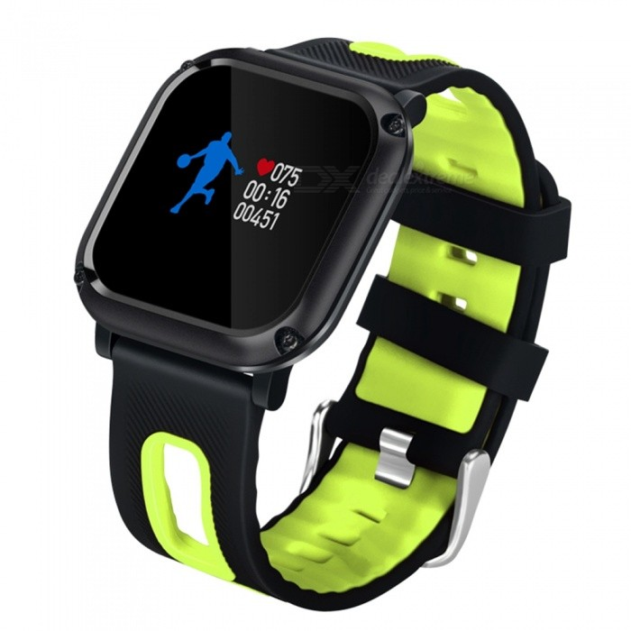 DB09 Sports IP68 Waterproof Smart Bracelet Watch with Pedometer, Heart Rate Blood Pressure Monitoring - GreenSmart Bracelets<br>ColorGreenModelDB09Quantity1 DX.PCM.Model.AttributeModel.UnitMaterialABSShade Of ColorGreenWater-proofIP68Bluetooth VersionBluetooth V4.0Touch Screen TypeYesCompatible OSSpecification        <br>ChipsetNRF51822QFAA BLE4.0<br>RAM32KB     <br>ROM256KB<br>SensorTriaxial Gravity Sensor <br>Hardware ParameterSingle core<br>Software ParameterOSAL<br>LanguagesChinese, English<br>OSAndroid4.4 or higheriOS 7.0 or higher<br>LCD0.95 Color scerrn OLED<br>LCD Pixels0.95 96*64<br>BT Version4.0<br>BT Connection Distance8-12m<br>Battery capacity90mAh<br>Standby Time7 days<br>Charging Electric Current80mA<br><br>Charging Type    Touching Point ChargingClip Charger<br>Average Working Current6mAh<br>Average Standby CurrentLess than 40uA 40uA<br>Working Voltage3.7V<br>Working Temperature-20~70<br>Woriking Humidity5%~95% non-congealable<br>Dimension39.9*38.9.2*164~232mm<br>ColorsRed and black, Green and black<br>MaterialMain Body<br>Net Weight52g<br>Waterproof GradeIPX68<br>CertificationsCE Rohs<br><br><br>function<br>Time Display; Date Display; Steps Display; Distance Display<br>Calorie Consuming Display, Blood pressure test.Calling Reminder, Message Reminder<br>Sitting Alert, Sleeping Monitoring, Bluetooth Connect<br>Battery-charging Protection, Heart Rate MonitoringBattery Capacity90 DX.PCM.Model.AttributeModel.UnitBattery TypeLi-polymer batteryStandby Time5-7 DX.PCM.Model.AttributeModel.UnitPacking List1 x Smart Band1 x Charging cable1 x User manual<br>