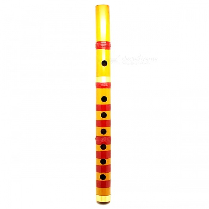 Traditional 6 Hole 24cm Long Bamboo Flute Clarinet Student Musical Instrument - Yellow + RedMusical Instruments<br>ColorYellow + RedMaterialBambooQuantity1 DX.PCM.Model.AttributeModel.UnitShade Of ColorYellowInstrument TypeOthers,Bamboo fluteInstrument Size24 DX.PCM.Model.AttributeModel.UnitPacking List1 x Bamboo flute<br>