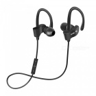 56S Sports Wireless Bluetooth Ear Hook Style In-Ear Earphones Sweatproof Stereo Earbuds Headset with Mic for Smartphone - Black