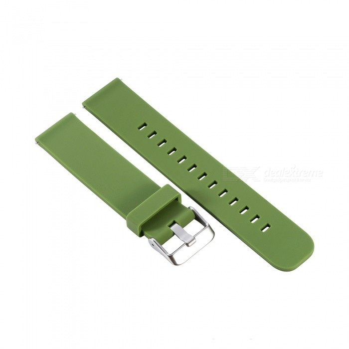 Universal Silica Gel Watchband 20mm for Samsung Gear Sport /S2 classic/MOTO2 42MM - Army GreenWearable Device Accessories<br>ColorArmy GreenModelN/AQuantity1 setMaterialSilica gel + alloyPacking List1 x Watchband 125mm1 x Watchband 85mm<br>